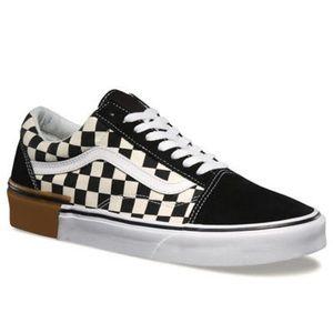 Vans Old Skool gum block checker sneaker shoes blk